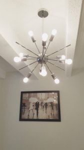 The Kira'smodern light fixture.