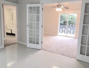 The Pat's elegant French doors